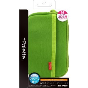 +Palette Multi Soft Pouch for 3DS (Lime...