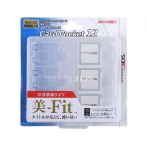 3DS Card Pocket 12 (Clear)