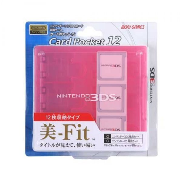 3DS Card Pocket 12 (Clear Pink)