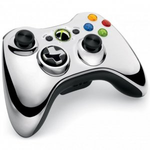 Xbox 360 Wireless Controller (Chrome Sil...