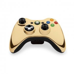 Xbox 360 Wireless Controller (Chrome Gol...