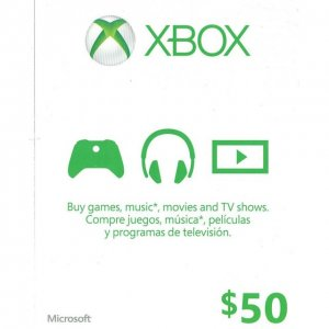 Xbox Live Value Card (USD 50)