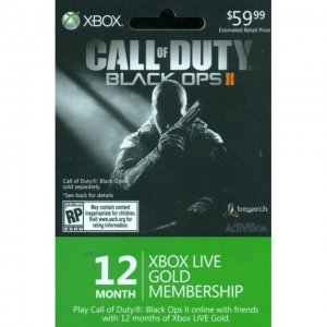 Xbox Live 12-Month +1 Gold Membership Ca...