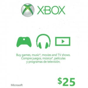 Xbox Live Value Card (USD 25)