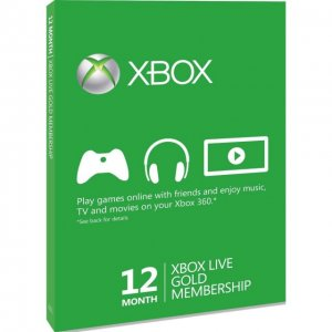 Xbox Live 12-Month Subscription Gold Car...