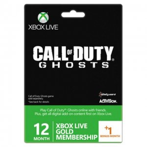 Xbox 360 Live 12-Month +1 Gold Membershi...