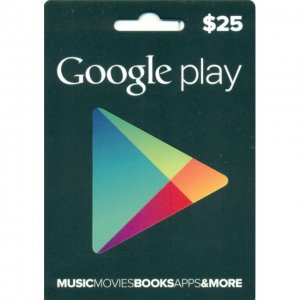 Google Play Card (US$25 / for US account...