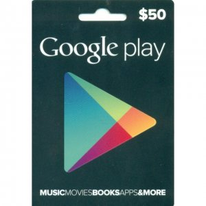Google Play Card (US$50 / for US account...