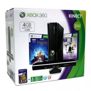Xbox 360 4GB Kinect Holiday Bundle (Kine...