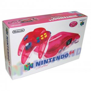 Nintendo 64 Console - clear red