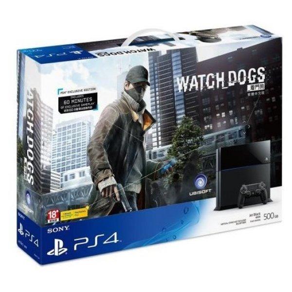PlayStation 4 System - Watch Dogs Bundle Set (Jet Black)