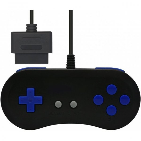 16Bit Controller for Super Famicom (Black x Blue)
