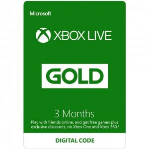 Xbox Live Gold 3-Month Gold Card