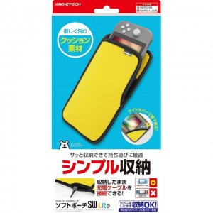 Soft Pouch for Nintendo Switch Lite (Yel...