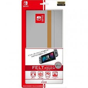 Felt Pouch for Nintendo Switch (Grey)