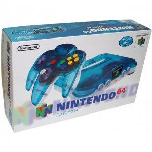 Nintendo 64 Console - clear blue