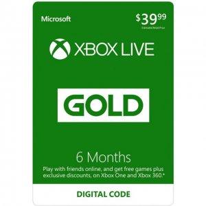 Xbox Live Gold 6+1 Month Membership GLOB...