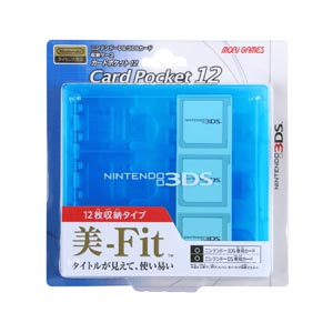 3DS Card Pocket 12 (Clear Blue)