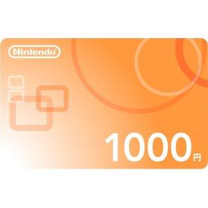 Nintendo Network Card / Ticket (1000 YEN...