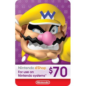 Nintendo eShop Gift Card $70 - Switch / ...