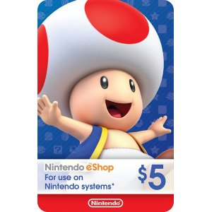 Nintendo eShop Gift Card $5 - Switch / W...