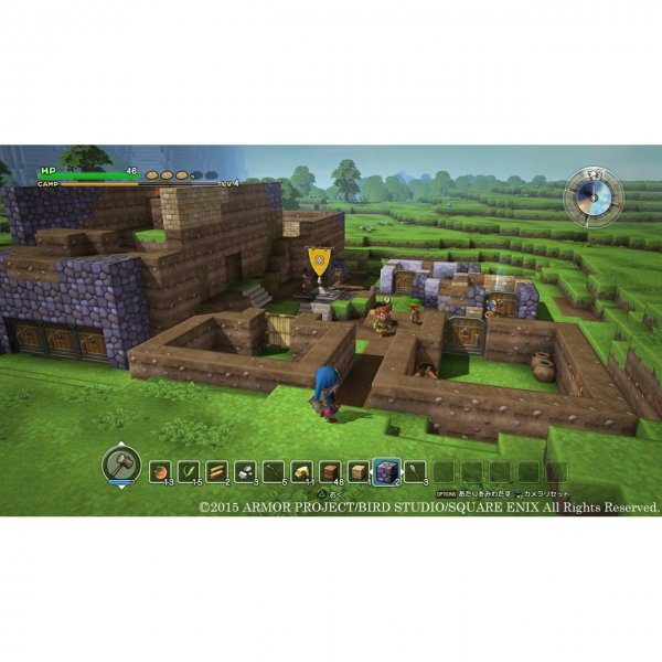 Does this dragon quest builders have English? : vita