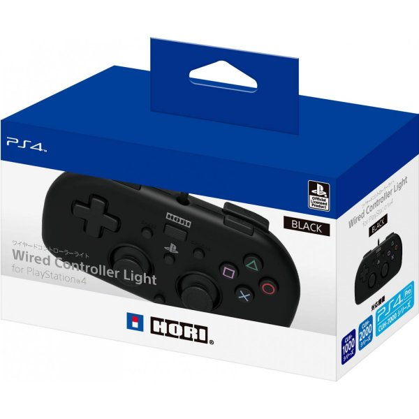 Hori Wired Controller Light For Playstation 4 [Black]