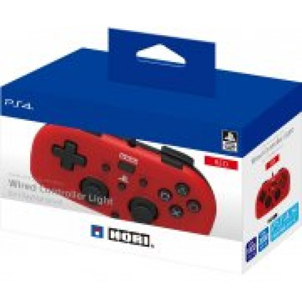 Hori Wired Controller Light For Playstation 4 [Red]
