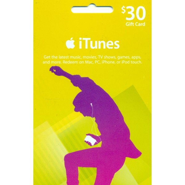 iTunes Card (US$ 30 / for US accounts only) digital
